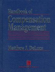 Cover of: Handbook of compensation management