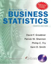 Cover of: Course in Business Statistics with CD-ROM (4th Edition) | David F. Groebner