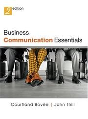 Cover of: Business Communication Essentials and CD Package (2nd Edition) | Court Bovee