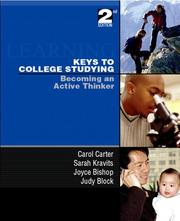 Cover of: Keys to college studying