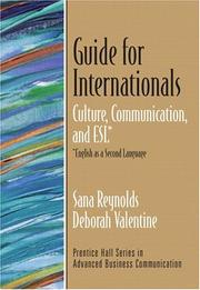 Cover of: Guide for Internationals by Sana Reynolds, Deborah Valentine