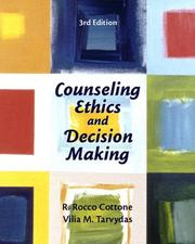 Cover of: Counseling ethics and decision making
