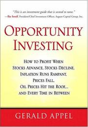 Cover of: Opportunity Investing | Gerald Appel