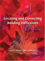 Cover of: Teacher's Handbook for Locating and Correcting Reading Difficulties, A