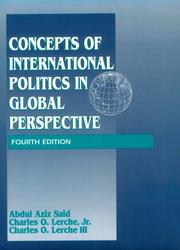 Cover of: Concepts of international politics in global perspective | Abdul Aziz Said