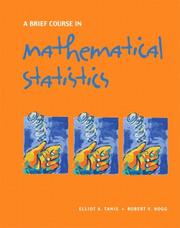 Cover of: A Brief Course in Mathematical Statistics | Elliot A. Tanis