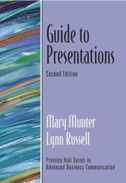 Cover of: Guide to Presentations (2nd Edition) (Prentice Hall Guides to Advanced Communication) | Mary Munter