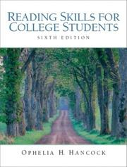 Cover of: Reading skills for college students