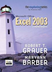 Cover of: Exploring Microsoft Excel 2003 Comprehensive and Student Resource CD Package (Exploring Series)