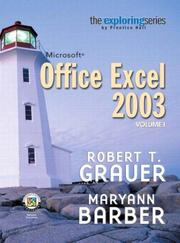 Cover of: Exploring Microsoft Excel 2003, Vol. 1 and Student Resource CD Package (10th Edition) (Grauer Exploring Office 2003 Series)