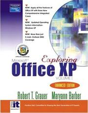 Cover of: Exploring Microsoft Office XP Volume 1 - Enhanced Edition