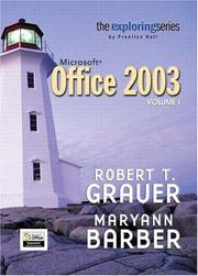 Cover of: Exploring Microsoft Office 2003 Volume 1 (Grauer Exploring Office 2003 Series)