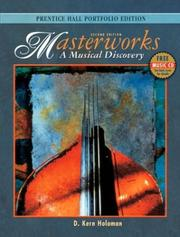 Cover of: Masterworks, Portfolio Edition with CD, Second Edition | D. Kern Holoman