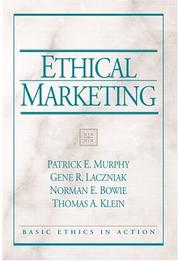 Cover of: Ethical Marketing (Basic Ethics in Action) | Patrick Murphy