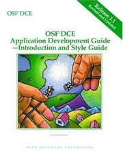 Cover of: OSF DCE Application Development Guide, Volume I | Open Software Foundation