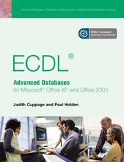 Cover of: ECDL Advanced Databases for Microsoft Office XP And Office 2003 | Judith Cuppage