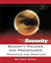 Cover of: Security Policies and Procedures | Sari Greene