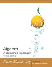 Cover of: Algebra A Combined Approach