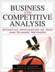 Cover of: Business and Competitive Analysis | Craig S. Fleisher