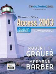 Cover of: Exploring MS Office Access Comprehensive 2003 - Revised Edition (Grauer Exploring Office 2003 Series)