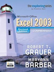 Cover of: Microsoft Office Excel 2003: revised comprehensive