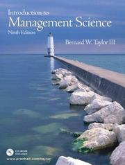 Cover of: Introduction to Management Science with Student CD