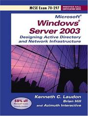 Cover of: Windows 2003 Server Planning and Maintaining Active Directory (Exam 70-297)