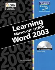 Cover of: Learning Series (DDC): Learning Microsoft Office, Word 2003