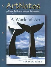 Cover of: Artnotes to Accompany a World of Art: A Study Guide and Lecture Companion