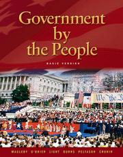 Cover of: Government By the People, Basic Version (21st Edition) | David B. Magleby