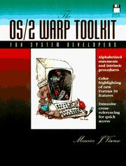 Cover of: The OS/2 Warp Toolkit for Software Developers