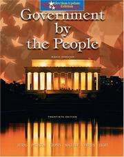 Cover of: Government by the people