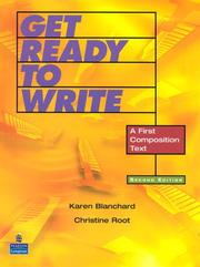Cover of: Get Ready to Write | Karen Blanchard