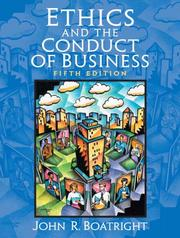 Cover of: Ethics and the conduct of business