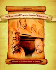 Cover of: Philosophical Foundations of Education (8th Edition) | Howard A. Ozmon