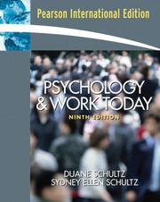 Cover of: Psychology and Work Today | Sydney Ellen Schultz