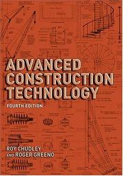Cover of: ADVANCED CONSTRUCTION TECHNOLOGY by