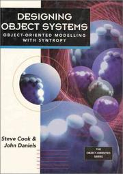 Cover of: Designing object systems