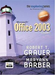 Cover of: Exploring Microsoft Office 2003 Volume 1 Enhanced Edition (Grauer Exploring Office 2003 Series)