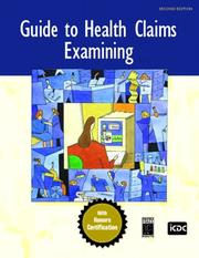 Cover of: Guide to Health Claims Examining (2nd Edition) | ICDC Publishing Inc.