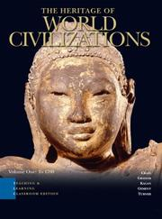 Cover of: Heritage of World Civilizations Teaching and Learning Classroom Edition, The, Vol 1