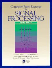 Cover of: Computer-based exercises for signal processing using MATLAB |