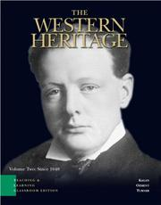 Cover of: Western Heritage, Volume 2, TLC edition, The (Chapters 13-30) (5th Edition) (Western Heritage) | Donald Kagan