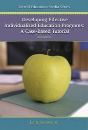 Cover of: Developing Effective Individualized Education Programs | Earle Knowlton