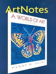 Cover of: Artnotes: A World of Art