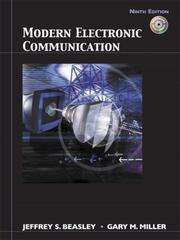 Cover of: Modern Electronic Communication (9th Edition) | Jeff Beasley