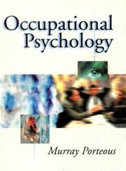 Cover of: Occupational psychology