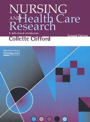 Cover of: Nursing and health care research