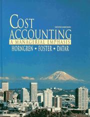 Cost Accounting by Charles T. Horngren, George Foster, Srikant M. Datar