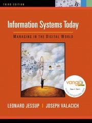 Cover of: Information Systems Today | Leonard Jessup, Joseph Valacich